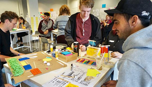 Students at Wintec's Design Hub